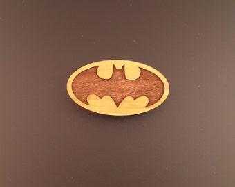 Batman Logo Wood Magnet for the Fridge