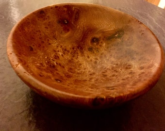 Elm Burr wooden bowl