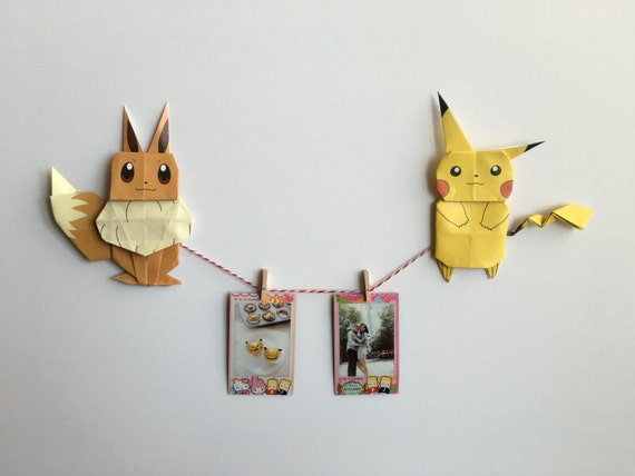 Origami Pokemon Eevee Choice Image Instructions Easy For Kids