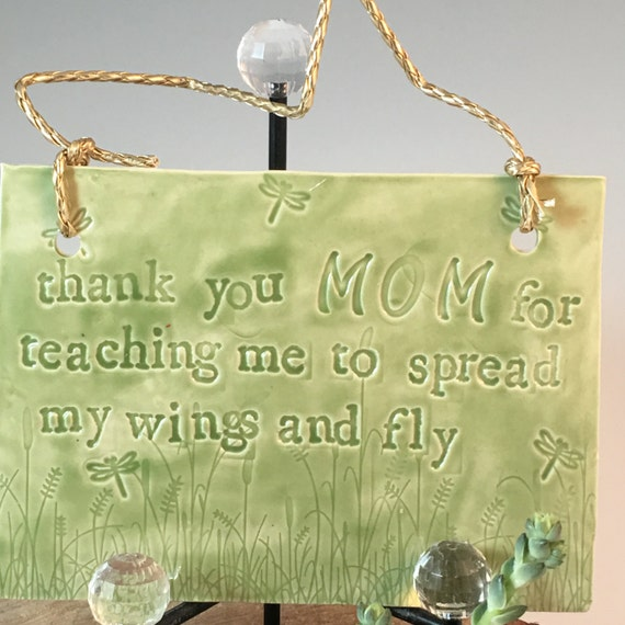 """Tell mom how thankful you are, """"Thank you Mom for teaching me to spread my wings and fly"""""""
