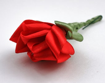 Fabric Flower Boutonnieres for Groom, Groomsmen, Father of the Bride, Father of the Groom, Best Man, Usher