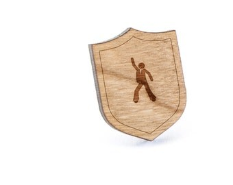 Dance Lapel Pin, Wooden Pin, Wooden Lapel, Gift For Him or Her, Wedding Gifts, Groomsman Gifts, and Personalized