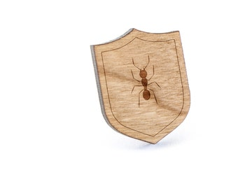Ant Lapel Pin, Wooden Pin, Wooden Lapel, Gift For Him or Her, Wedding Gifts, Groomsman Gifts, and Personalized