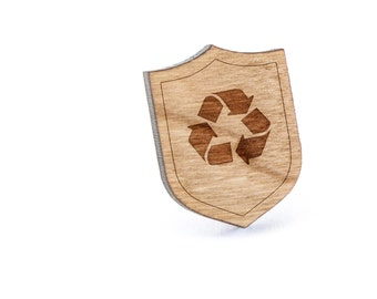Recycle Lapel Pin, Wooden Pin, Wooden Lapel, Gift For Him or Her, Wedding Gifts, Groomsman Gifts, and Personalized