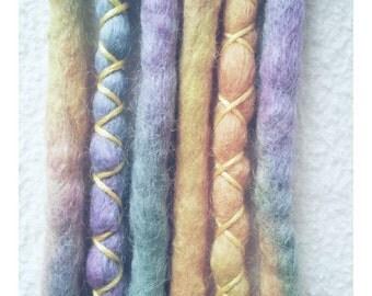 "3 DE wooldreads ""pastel Rainbow"""