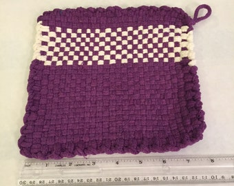 Violet and White (Pot Holders)