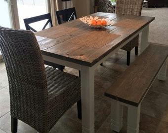 Harvest Style Farmhouse Table. Quality Craftmanship.