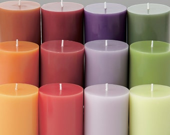 Organic Colored Pillar Wiccan Spell Candles