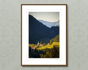 Fine art photography, 24x32 cm framed art, Allgäu Germany, giclee print, Bavarian mountain wall art,home decor,travel gift,outdoor landscape