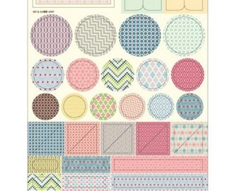 Lot of 4 sheets of stickers with different motifs
