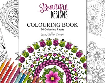 Adult Colouring Book Beautiful Designs