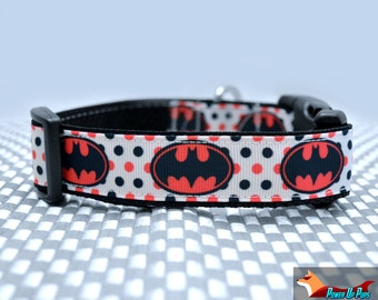 Pink Batpup Batman Dog Collar