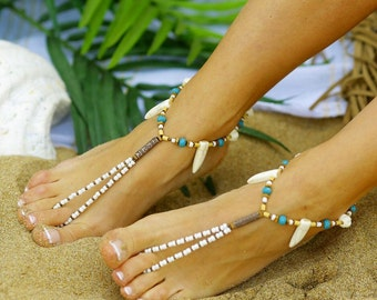 Boho Catalina Barefoot Sandals jewelry bead anklet