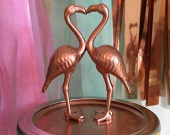 Copper flamingo lovers ball mason jar, handmade, home decor, night light, uk seller.