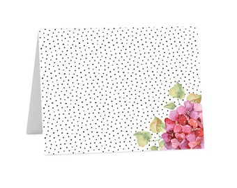Note Cards / Folded Note Cards / Dots / Floral / Flowers (NC-036)