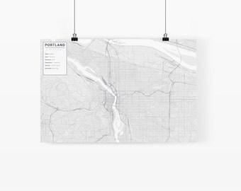 Portland, Oregon City Map