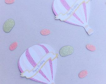 Custom Hot Air Ballon Confetti - Hot Air Ballon Confetti - Confetti - Hot Air Ballon- Custom Confetti