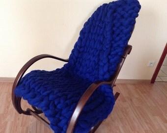 CHUNKY BLANKET hand knit knit blanket MERINOWOOL