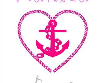 Anchor Heart Name Print