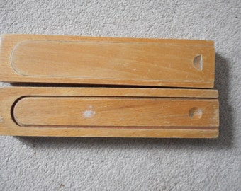 Two Wooden Pencil Boxes
