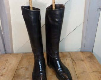 Leather Riding Boots with Boot-trees - Leather Boots - Decorative Boots (stock#6407)