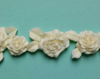 Rose appliqué /flowers/shabby chic