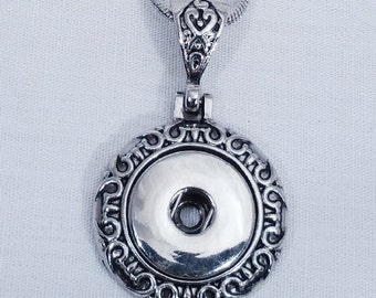 Item# 0137--- 18mm Snap Jewelry Scrolled Metal Pendant (FREE Shipping Coupon Code in Description)