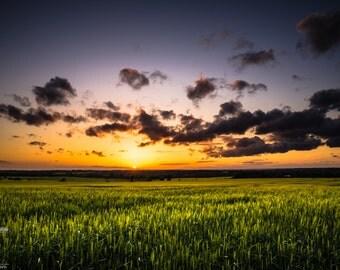 Fine Art Yorkshire Sunset Photography Print