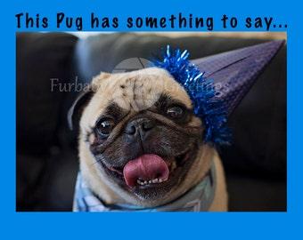 Happy Mother-Puggin' Birthday Greeting Card, Dog Card, Pug Birthday Card, Pug Greeting  Card