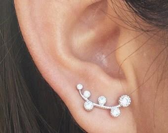 Heirloom Ear climbers   ear climber earrings   ear crawlers   ear crawler earrings   ear pins   ear sweeps