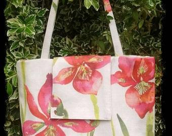 Red iris bag