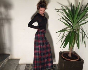 -checked skirt
