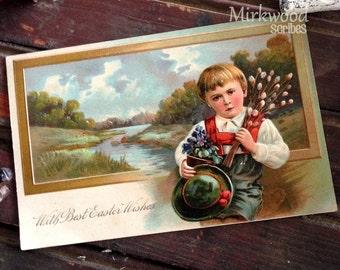 Vintage German Easter Postcard  |  1906 With Best Easter Wishes