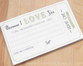 Love Coupon Book - Printable | For Any Occasion | 4x6