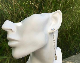Earrings sterling silver rings