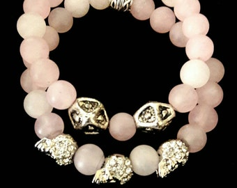 Handmade beaded bracelet set.