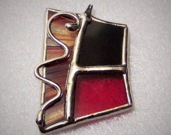 Pendant stained glass (handmade)