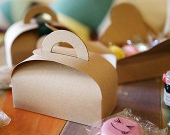 10 kraft gable boxes, small gable boxes, macaron boxes, cookie boxes, favor boxes, wedding favor boxes, party favor boxes, gable favor boxes