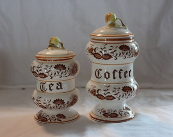 Vintage Braun Onion Coffee and Tea Canisters