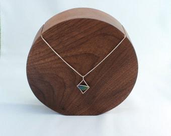 Medium Round Wooden Walnut Jewellery Necklace Display Bust