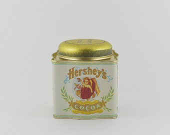 1980's Hershey's Cocoa Tin Great Condition!