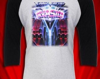 Vinnie Vincent Invasion Vintage Tee 1987 Tour T-shirt KISS
