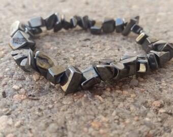 Hematite Bracelet Crystal Healing Reiki Spiritual Jewelry