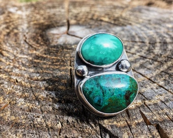 Kingman Turquoise & Chrysocolla Ring
