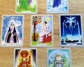 Inner Feminine 7 Card Hand-written Tarot Reading - Snail Mail Tarot Reading