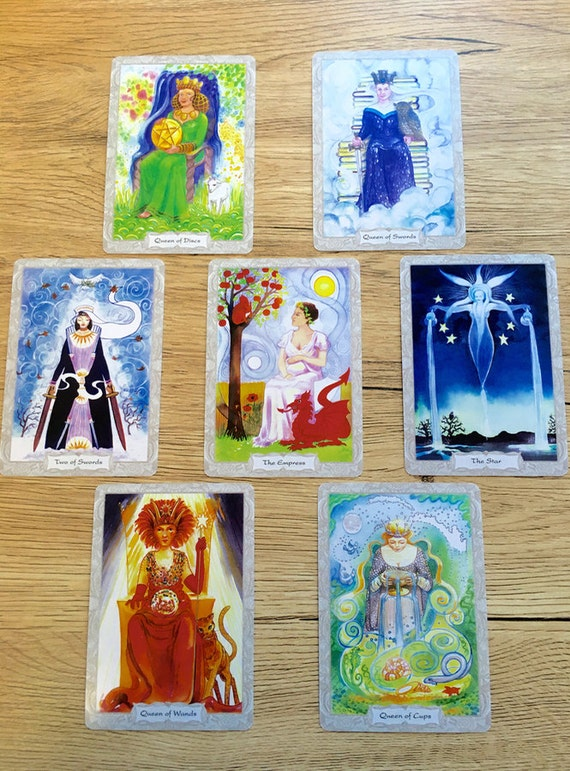 Inner Feminine 7 Card Hand-written Tarot Reading Snail Mail