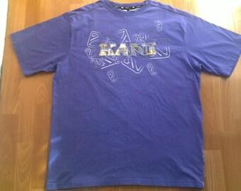 KARL KANI t-shirt vintage cotton shirt of 90s hip-hop clothing, 1990s hip hop shirt, gangsta rap, sewn og size XL