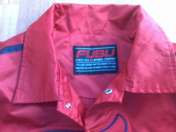 durable modeling FUBU jacket vintage Fubu windbreaker 90s