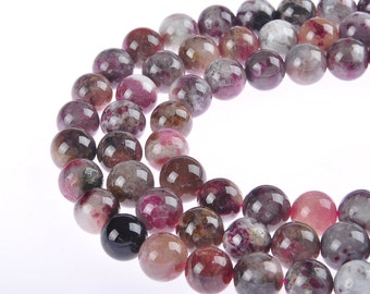 Multi Color Tourmaline Round Loose Beads 6mm/8mm/10mm/12mm.R-S-TOU-0335