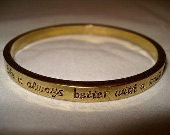 Gold colour bracelet/bangle